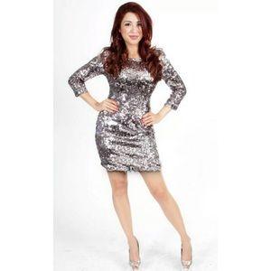 RUBBER DUCKY Plunge Back Mini Dress